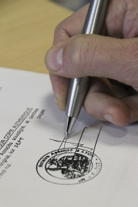 Signer une convention