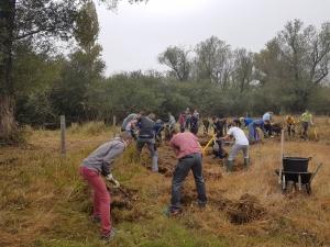 Chantier écovolontaire avec le Lycée horticole de Dardilly